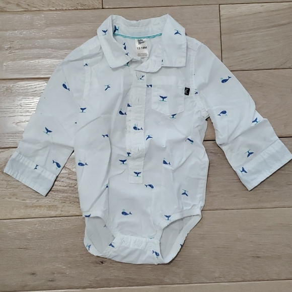 Baby B'gosh Long sleeved Dress Shirt Bodysuit